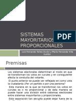 Presentación Sistemas Mayoritarios y Proporcionales
