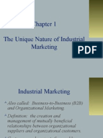The Unique Nature of Industrial Marketing