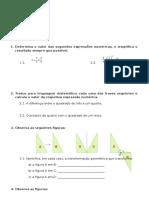 Ficha de Avaliacao Mat6 Isometrias