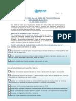 CHECK LIST PARA EL CUIDADO DE PACIENTES CON INFLUENZA A (H1 N1)