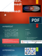 Hypertext, Hipermedia and Multimedia