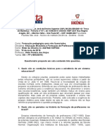 Questionario Educação Brasileira