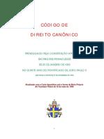 CÓDIGO DE DIREITO CANÔNICO DA IGREJA CATÓLICA APOSTÓLICA ROMANA