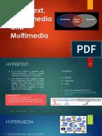 Hypertext, Hipermedia and Multimedia