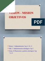 Vision - Mision Objetivos