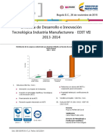Boletin Edit Manufacturera 2013 2014-Estdisticas Dane