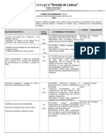 Planificacion de Ciencias, Historia,Matematica y Lenguaje.