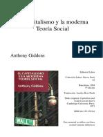 Giddens Las Relaciones de Produccic3b3n y La Estructura Clasista