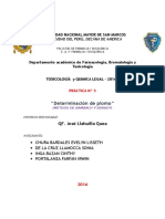 Práctica Toxicologia Det. de Pb