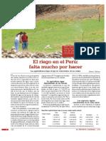 El riego en el Peru