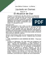 Discipulado Damas - Tema N° 11 El Alcance de Dar