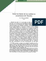 Sobre los límites de los análisis no económicos del Derecho (Guido Calabresi)