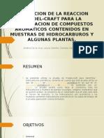Identificación de hidrocarburos aromáticos por la reacción alquilación.pptx