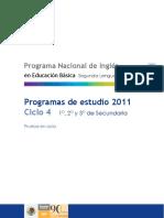 Programa 2011. Inglés. Secundaria