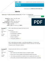 Avaliação Final - SESI EAD PR - Como Estudar a Distância