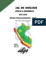 Manual de Análisis Estático y Dinámico Según La NTE E.030 - 2016 [AHPE]