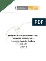 Lectura_Adell Internet en Las Aulas Las Webquest