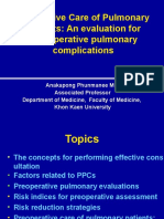 Preoperative Care of Pulmonary Patients3