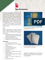 Mineral Wool Pipe Insulation Datasheet