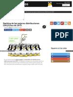 Ranking de Las Mejores Distribuciones gnu Linux