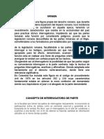 INTERROGATORIO DE PARTE-MATERIAL DE PROBATORIO