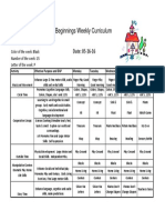 Weekly Curriculum May 16-20 '16 (Pirates)