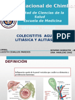 Colecistitis Aguda Litiasica y Alitiasica