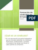 Formación de Sindicatos en El Salvador