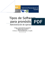 Uso de Software en Pronosticos