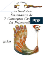 1.- Nasio, J.D. 7 Conceptos Cruciales Del Psicoanálisis. 238p