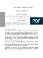 TRINSEY v PAGLIARO Attorneys Cannot Give Testimony