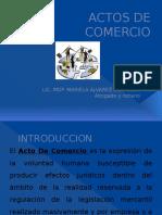 ACTOS de COMERCIO y Sujetos de Derecho Mercantil
