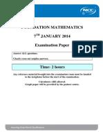 FM Global Exam Paper Jan 14 Final
