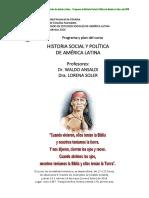 Historia Politica y Social de America Latina Programa 2016