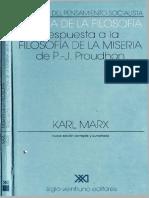 Marx, Karl - Miseria de La Filosofía