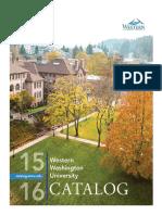 2015-2016 Western Washington University Catalog