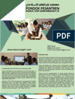 Brosur Pondok Pesantren Putra Nurul Ilmi Darunnajah 14 Serang Banten