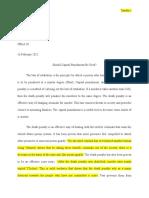 capital punishment-argumentative essay