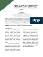 Jurnal Perbandingan Hasil Klasifikasi Data Kesesuaian Pendidikan Dengan Pelajaran Yang Diajar Menggunakan Metode Decission Tree Dan Naïve Bayes
