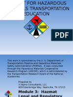 Toolkit for Hazardous Materialas Transportation Education