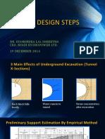 GL Shrestha Tunnel Design Steps