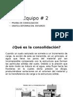 Consolidación de los suelos.