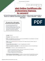 300424587 Ericksoniana Hipnoza Curs de Certificare PDF