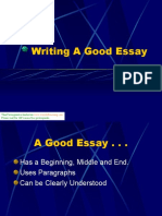 Writing a Good Essay