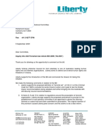 Victorian Council of Civil Liberties Inc. submission on Anti-Terrorism Laws Reform Bill 2009, dated 9 September 2009