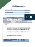 Sueldo Diputados(as),