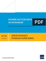 Power Sector Development for Myanmar