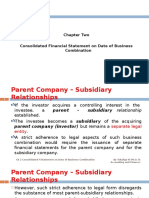 Chapter Two Consolidated Financial Statement on Date of Acqusitions