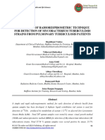 EVALUATION OF RADIORESPIROMETRIC TECHNIQUE FOR DETECTION OF MYCOBACTERIUM TUBERCULOSIS STRAINS FROM PULMONARY TUBERCULOSIS PATIENTS