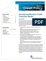Moody Credit Transition Model